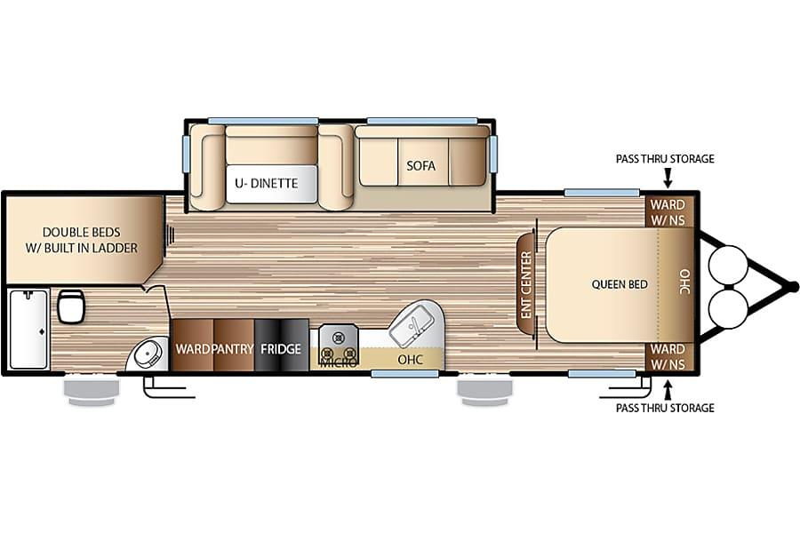 floorplan 2017 Forest River Evo Travel Trailer (2) Temecula, CA
