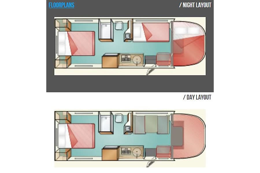 floorplan 2012 Thor Motor Coach Majestic 27G Hammond, LA