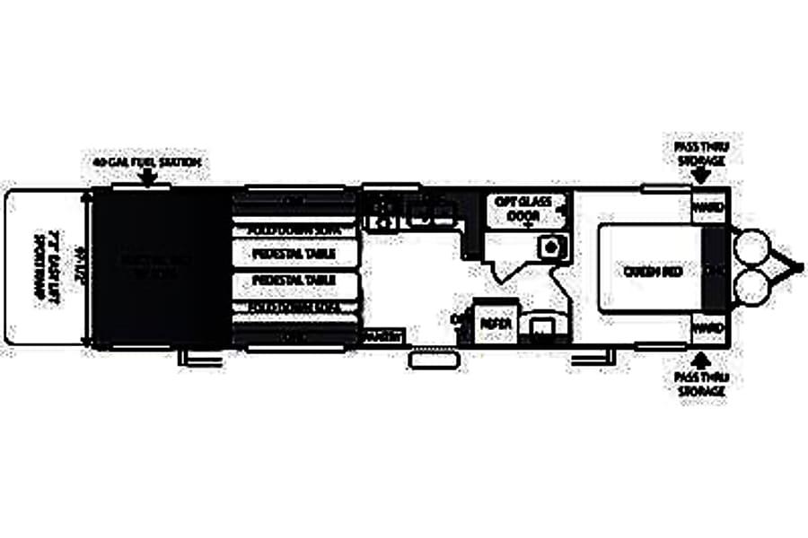 floorplan 2014 Forest River Sandstorm Toy Hauler Washington, UT