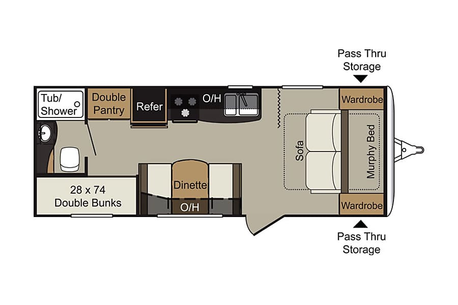 floorplan 2015 Keystone Passport Ultralite Family / Tailgate Camper! Chattanooga, TN