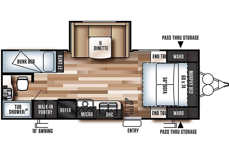floorplan 2017 Forest River Wildwood X-Lite 230BHXL Seffner, FL