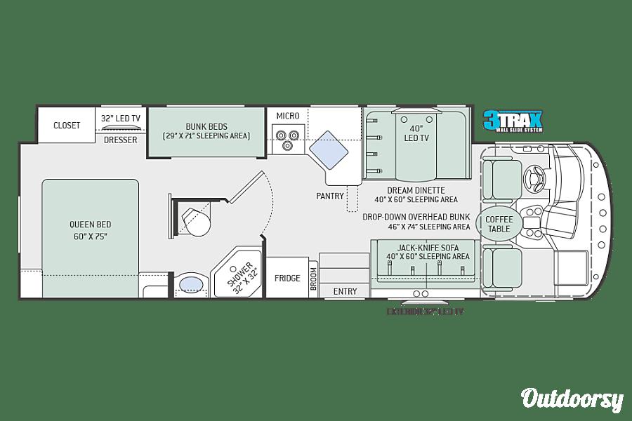 floorplan 2018 Thor A.C.E 30.2 Bunk Seffner, FL