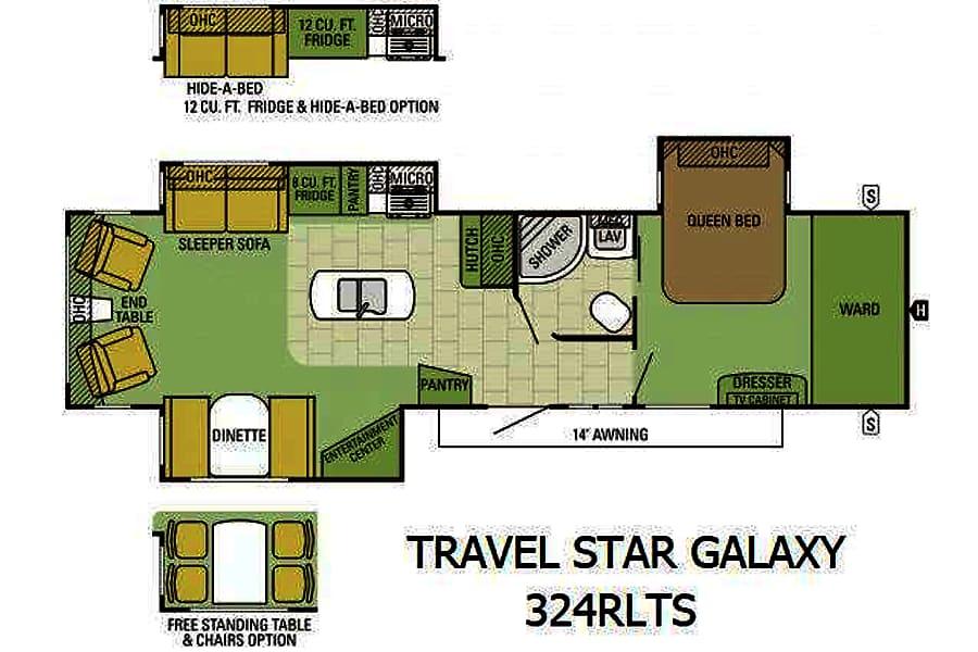floorplan 2016 Starcraft Travel Star Frederick, CO