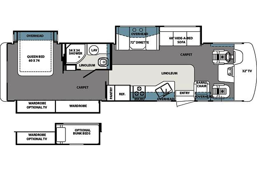 floorplan 36 FT. Forest River Georgetown (Bunk House) Clemmons, NC