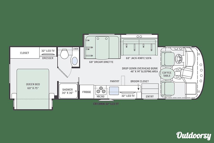 floorplan 2017 Thor Motor Coach A.C.E 30 FT. Plainfield, IL