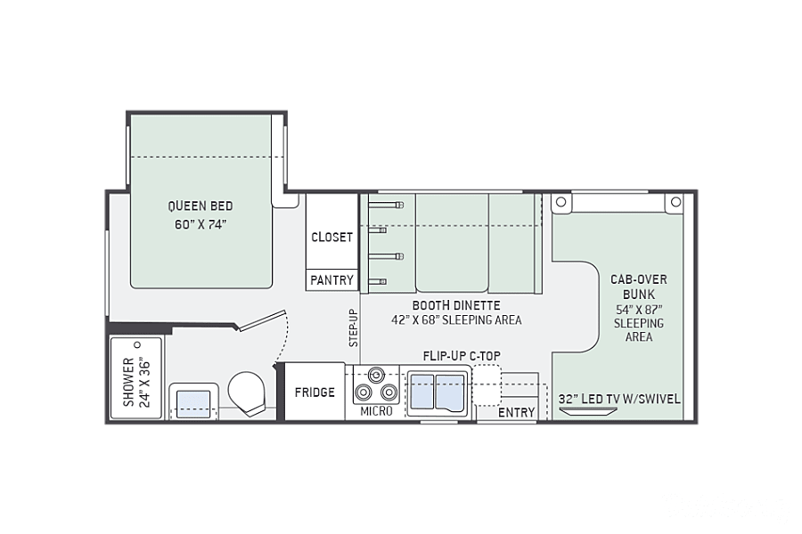 floorplan 2017 24' Thor Chateau 22B (Seats 4) Bellbrook, OH