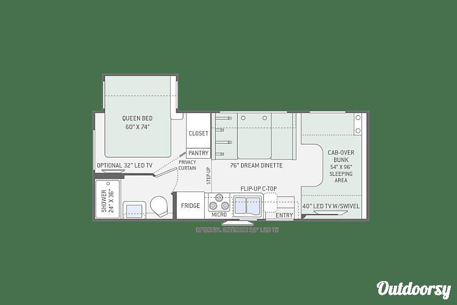 """floorplan """"Comfy"""" 2017 Thor Motor Coach Chateau Cleveland, TN"""