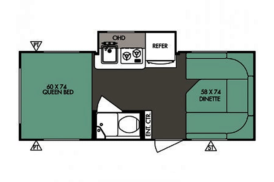 floorplan RPOD 178 TRAVEL TRAILER Golden, CO