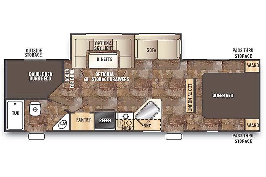 floorplan Greywolf 274DBH Golden, CO