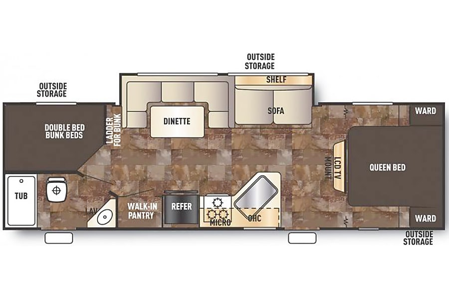 floorplan 2017 Forest River Cherokee Grey Wolf Knoxville, TN