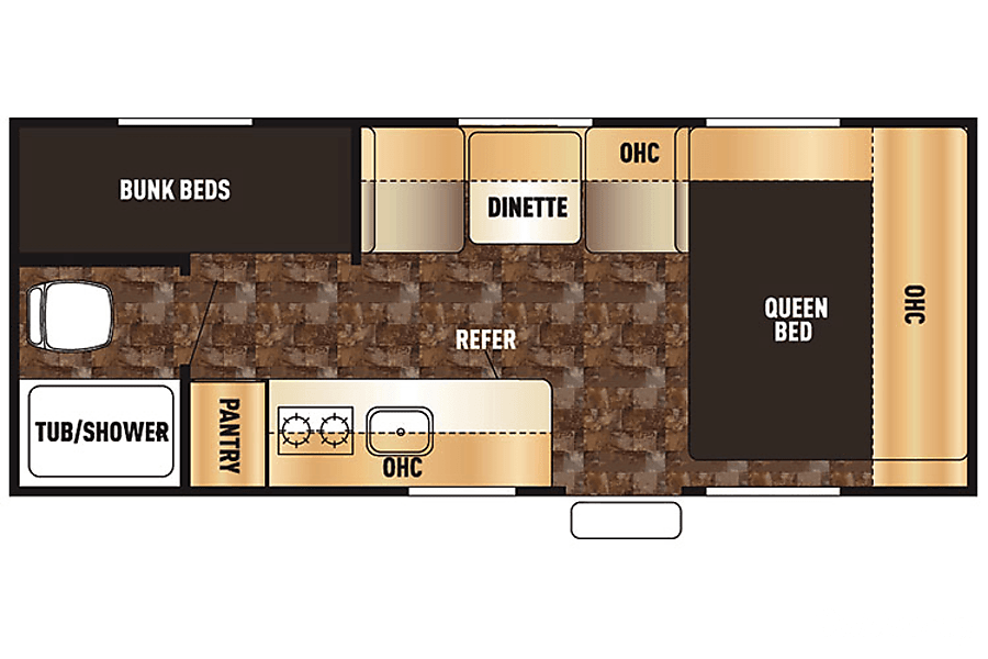 floorplan 2017 Forest River Wolf Pup Owensboro, KY