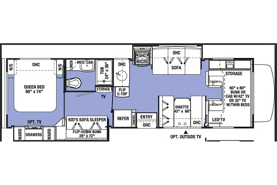 floorplan 2017 Forest River Sunseeker Glastonbury, CT