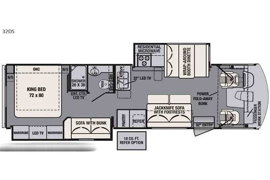 floorplan 2016 FR3! Best Bunkhouse EVER! 4 TV's & HUGE  Fridge! Assisted Steering! Tomball, TX