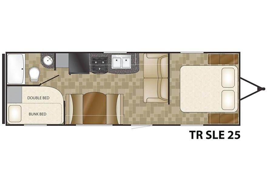 floorplan 2015 Heartland TrailRunner SLE25 Meridian, ID