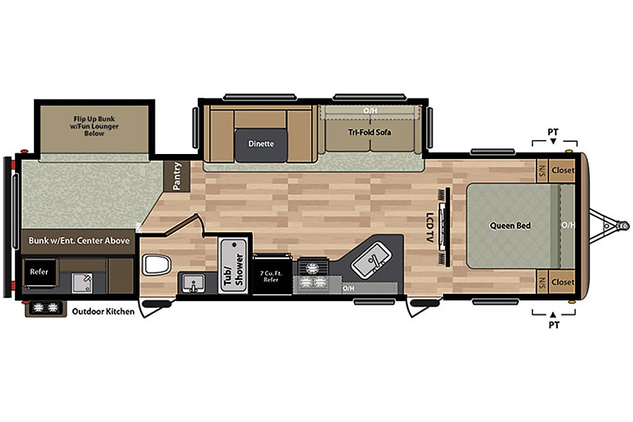 floorplan 2016 Keystone Springdale Bunkhouse - free local delivery Maple Valley, WA