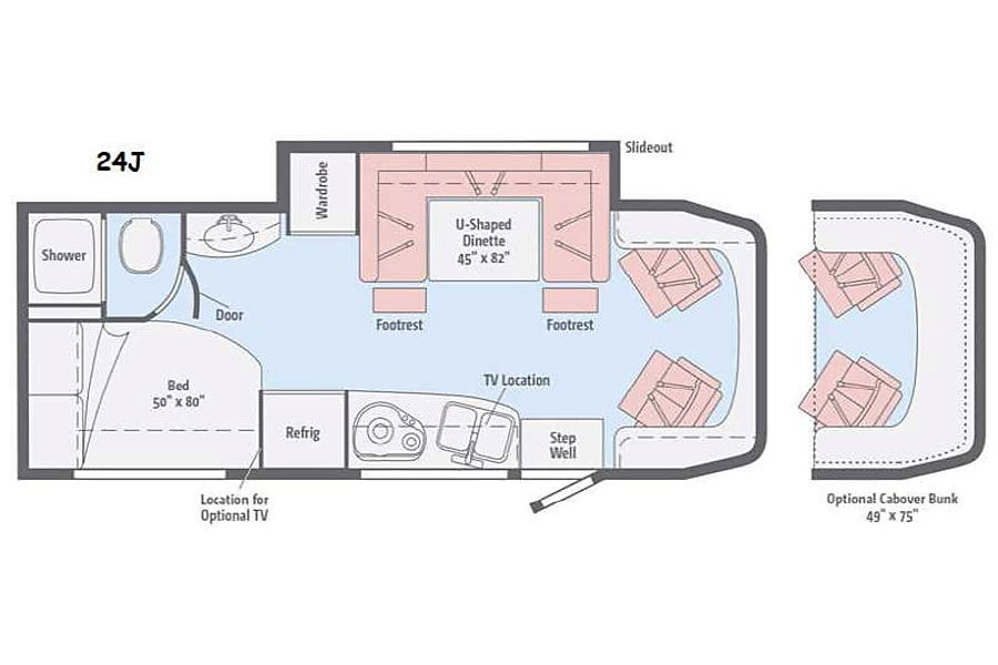 floorplan 2017 Mercedes Winnebago 24j Whittier, CA
