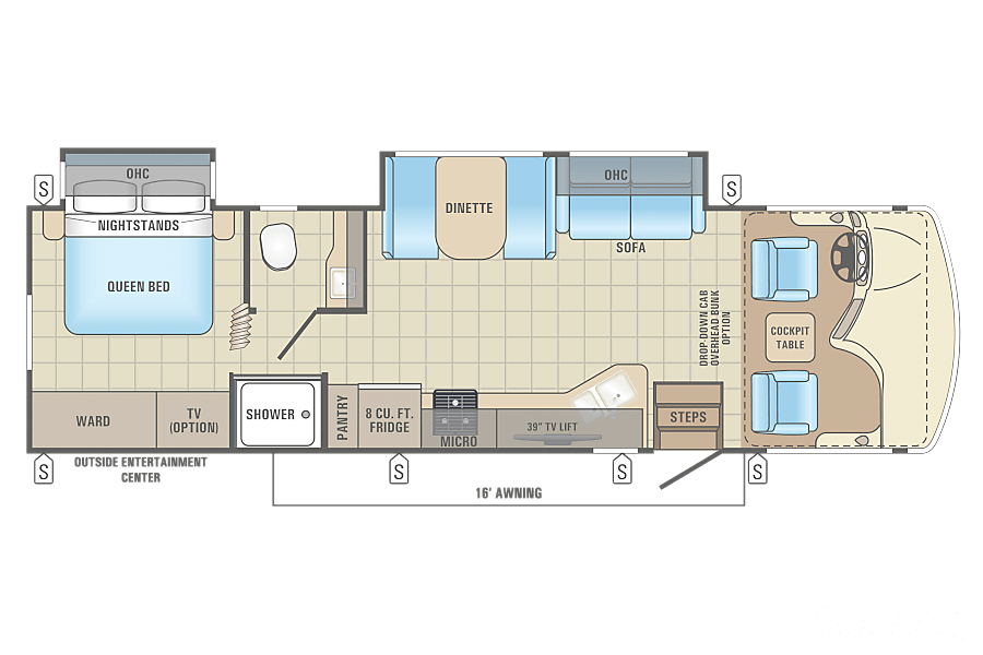 floorplan 2017 Jayco Alante Schenectady, NY