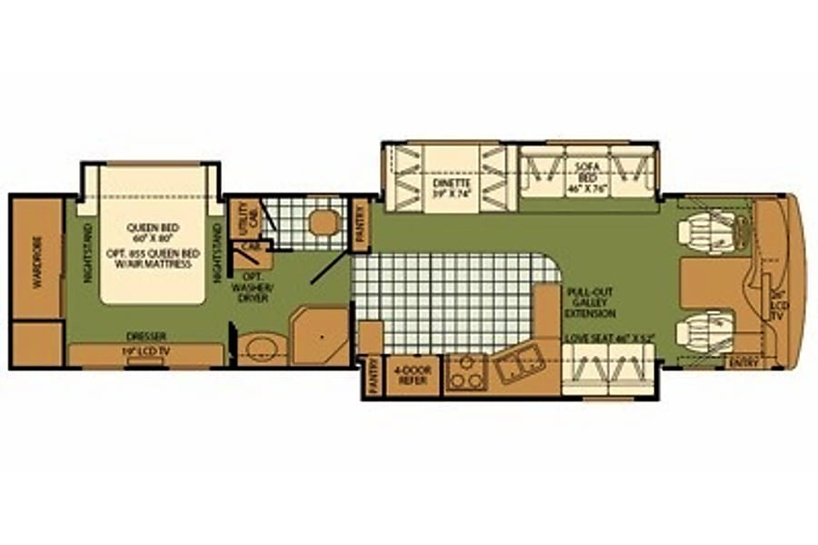 floorplan 2005 Fleetwood Expedition Santa Clarita, CA