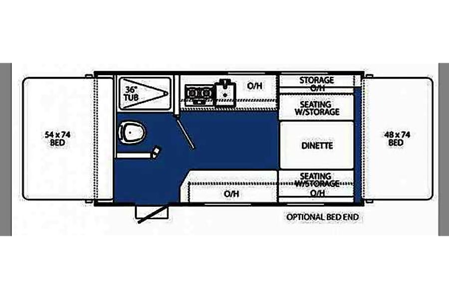 floorplan 2015 Coachmen Clipper Hybrid North Plains, OR