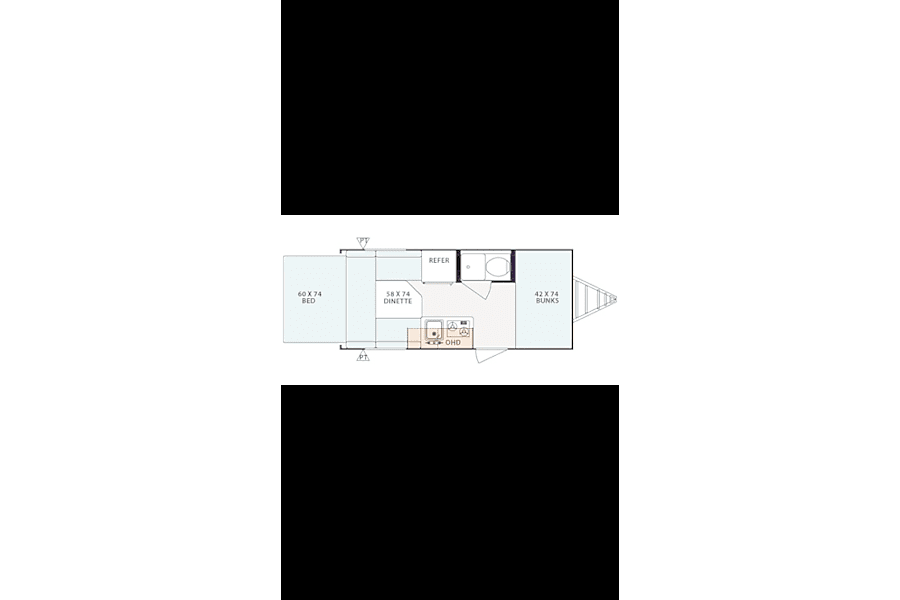 floorplan The Ultimate Vacation Machine that can be towed by Virtually ANYTHING!!! New Braunfels, TX