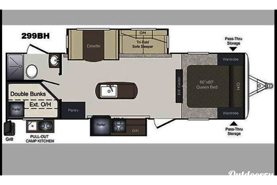 floorplan 2016 Keystone Laredo Paris, ID
