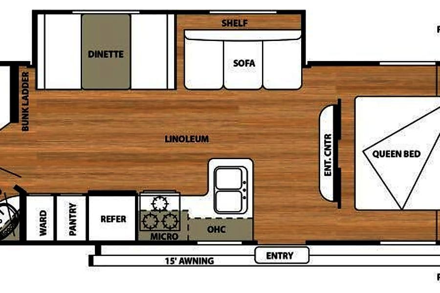 Salem Cruise - 29' Camper With Bunks Riverview, FL Floorplan