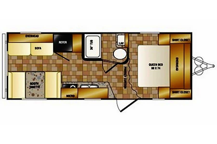 floorplan 25' Crossroads Z-1, Sleep up to 6 Cement City, MI