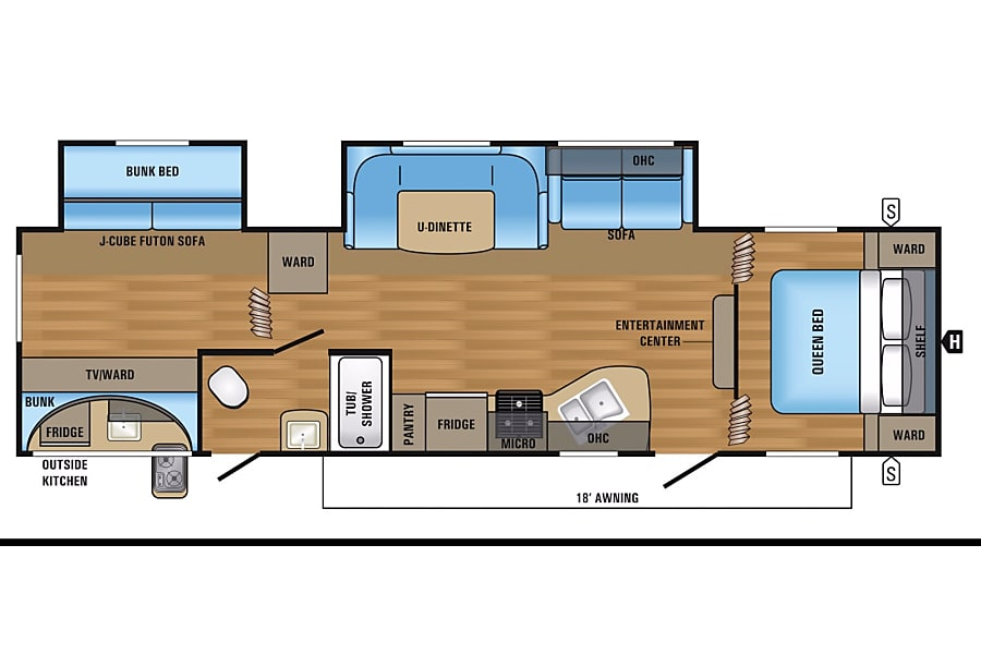 2017 Jayco Jay Flight 35ft Bunkhouse Windsor, CO Floor plan
