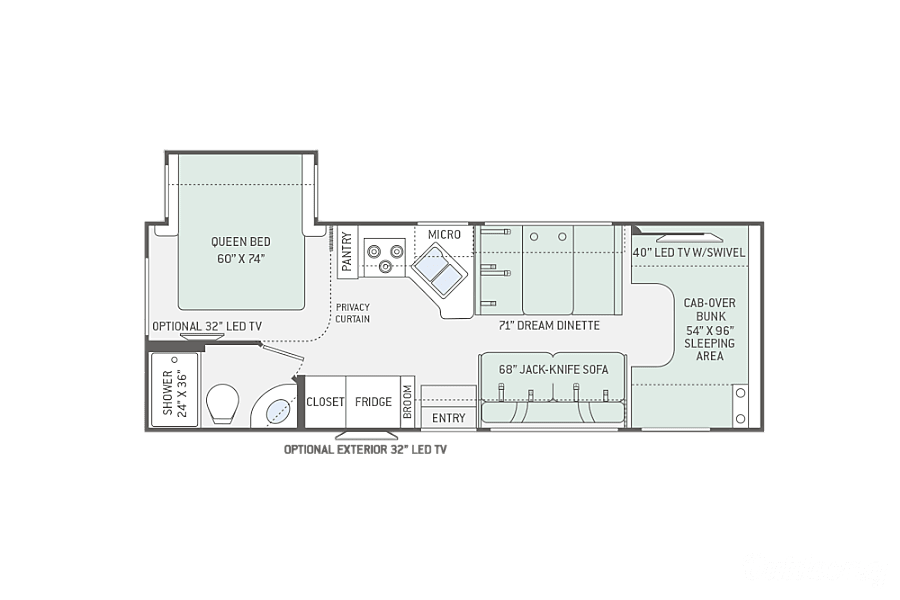 floorplan 2017 Thor Motor Coach Four Winds Spanish Fork, UT