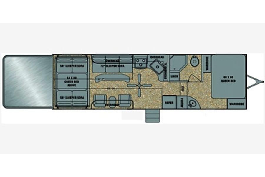 The RubQ Rig - 2014 Evergreen Amped Roy, UT Floor plan