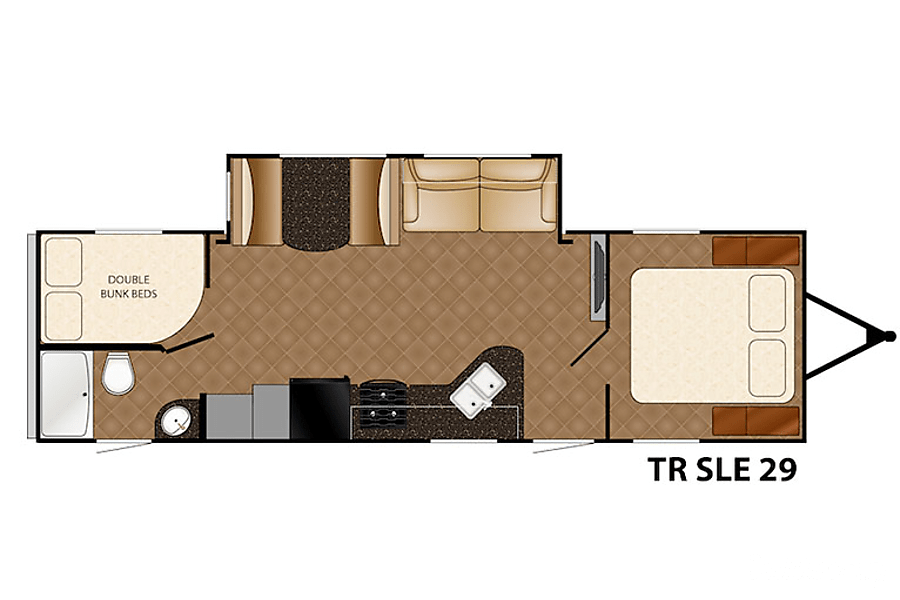 floorplan 2016 Heartland TrailRunner SLE29 Meridian, ID