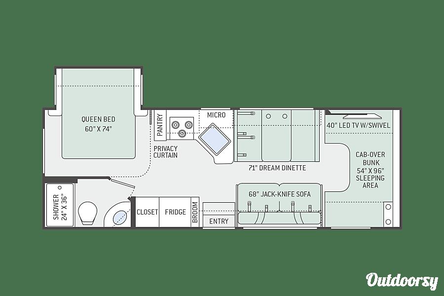 floorplan 2017 Thor Motor Coach Freedom Elite Simpsonville, SC