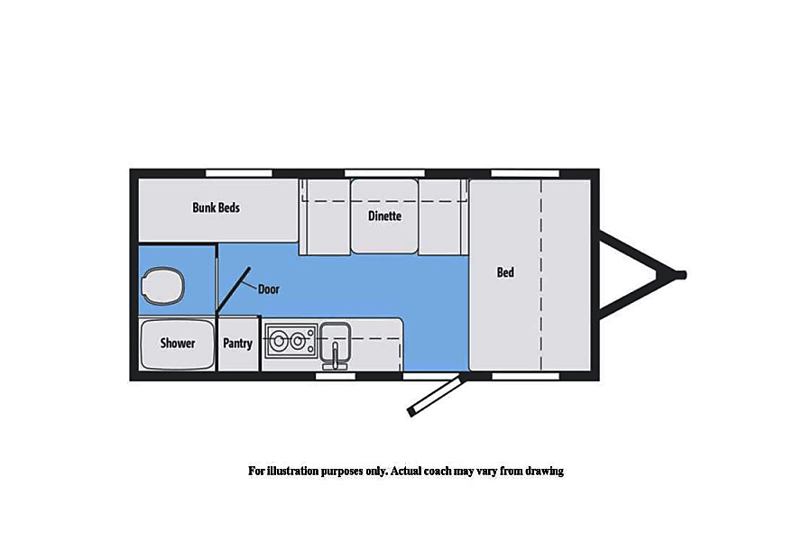 floorplan 2017 Micro Minnie 1700BH New Mexico 505 RV Rentals #ABQRV Rio Rancho, NM