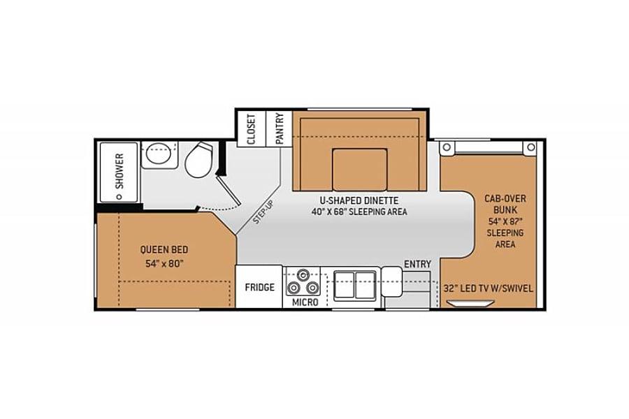 floorplan 2017 Thor Motor Coach Chateau 24C Fullerton, CA