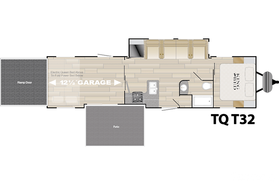 floorplan 2017 Heartland Torque T32 Toy Hauler Midland, NC