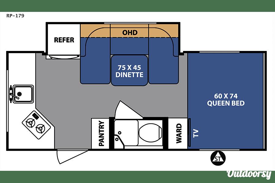 floorplan 2018 Forest River R-Pod Davie, FL