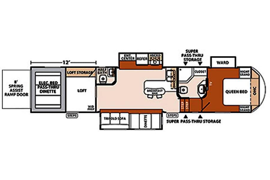 floorplan 2014 Forest River Xlr Thunrderbolt Pflugerville, TX