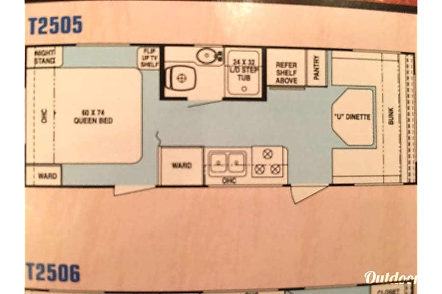 floorplan 2003 Forest River Rockwood Littleton, CO