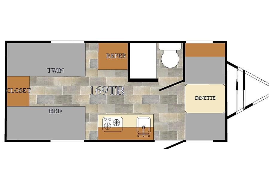 floorplan 2017 Sunlite 19QB Denver, CO