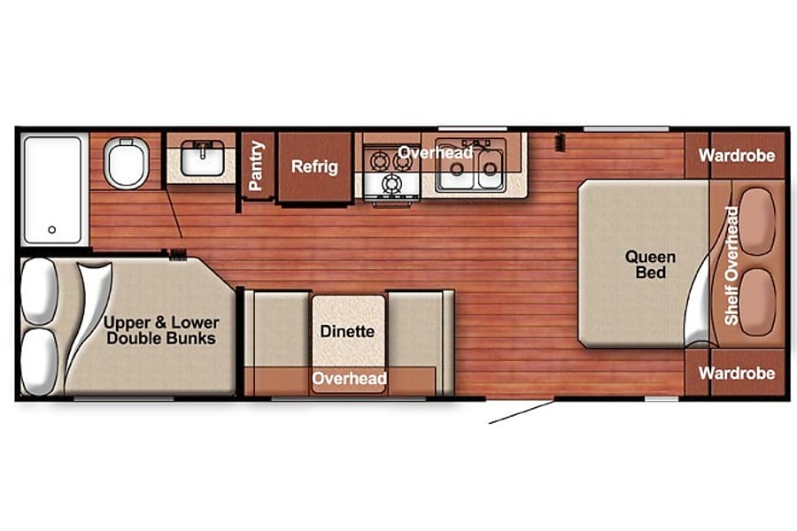 floorplan 2017 Ameri-Lite 248BH Denver, CO