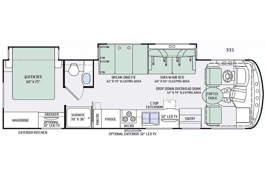 floorplan Thor Windsport 31S Huntsville, AL