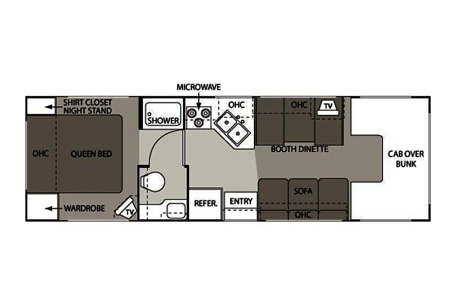 floorplan 2010 Thor Motor Coach Four Winds Five Thousand 28A Keyport, NJ