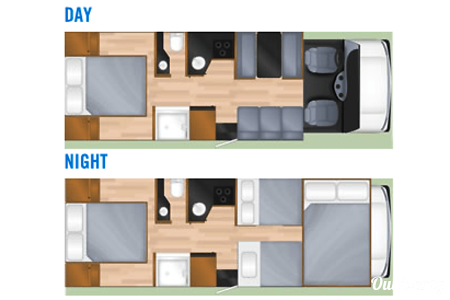 floorplan 2013 Thor Motor Coach Four Winds Majestic Colorado Springs, CO