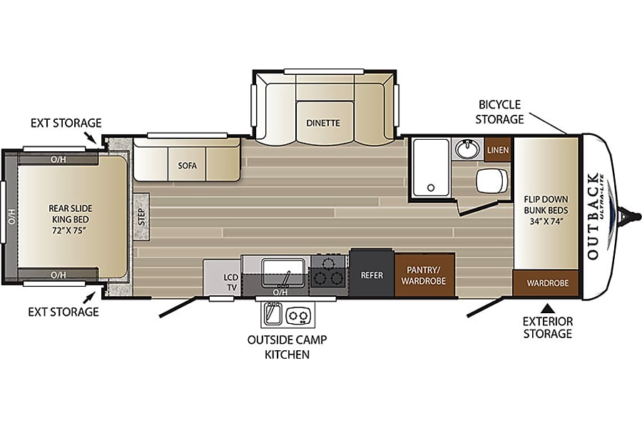 floorplan 2017 Keystone Outback Monument, CO