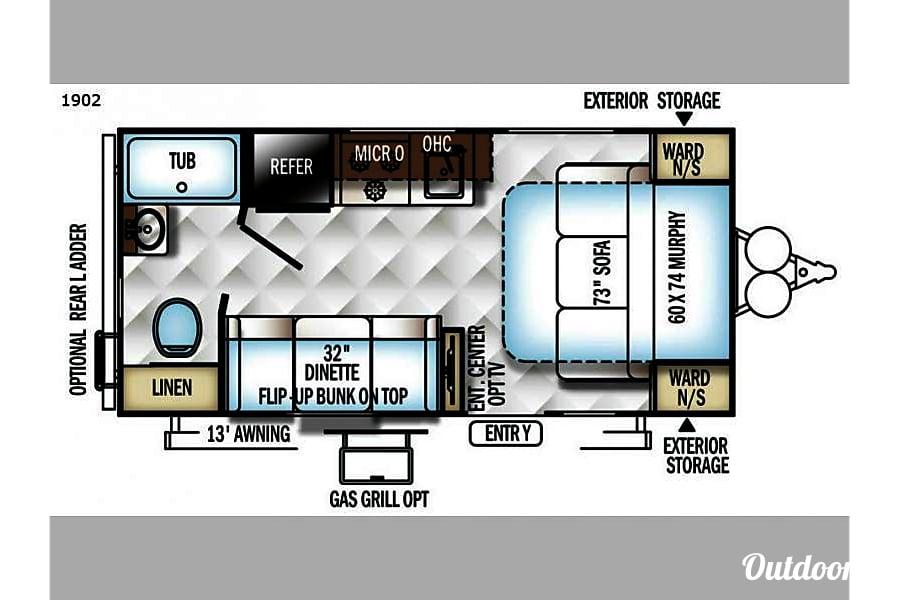 floorplan 2018 Rockwood RLT1902 Paris, ID