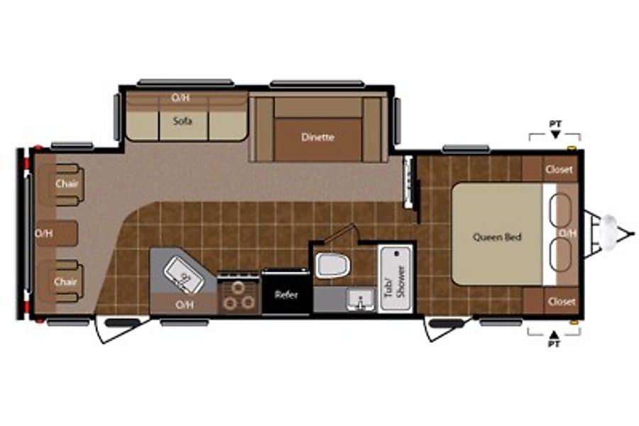 floorplan 2011 Keystone Springdale 266 RL-SSR San Diego, CA