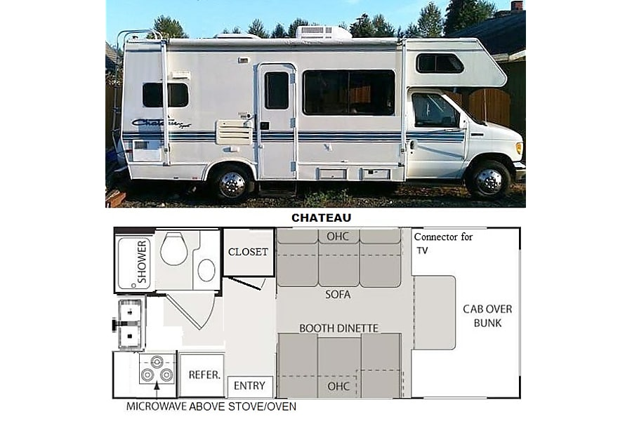 floorplan 1996 Chateau Lynnwood, WA