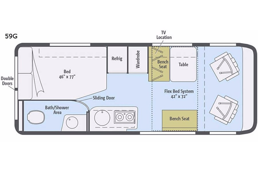 floorplan Everything is included. Just bring your clothes!!! This van sleeps 4!!! East Stroudsburg, PA