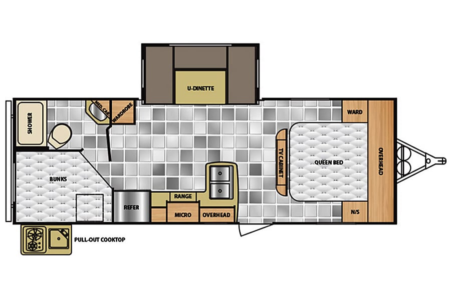 floorplan 2016 Winnebago Minnie Austin, TX