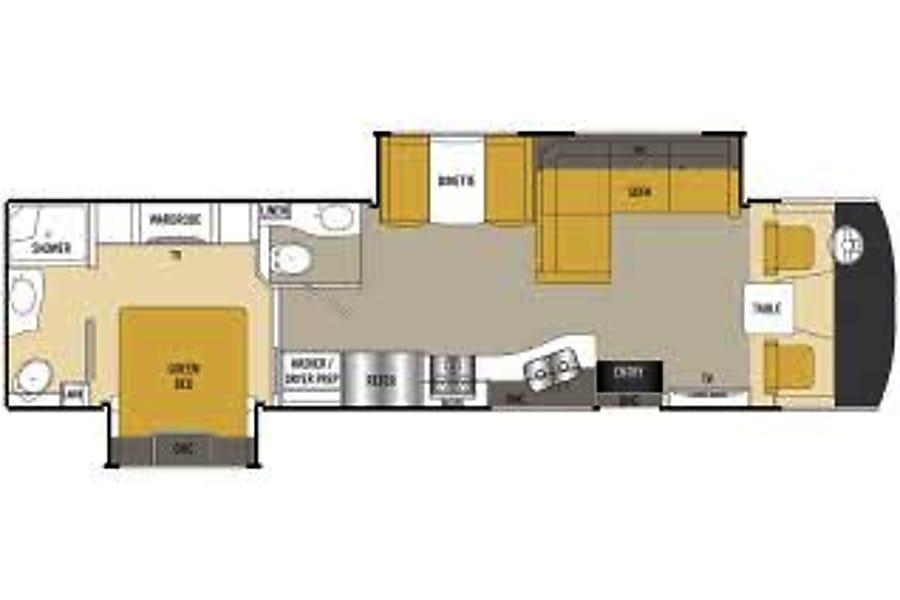 floorplan 2016 Coachmen Mirada Select 37 LS Marietta, GA